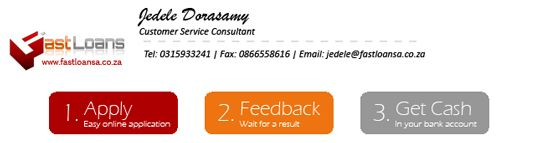 Email signature design for Fast Loan SA #graphicdesign #creativedesign
