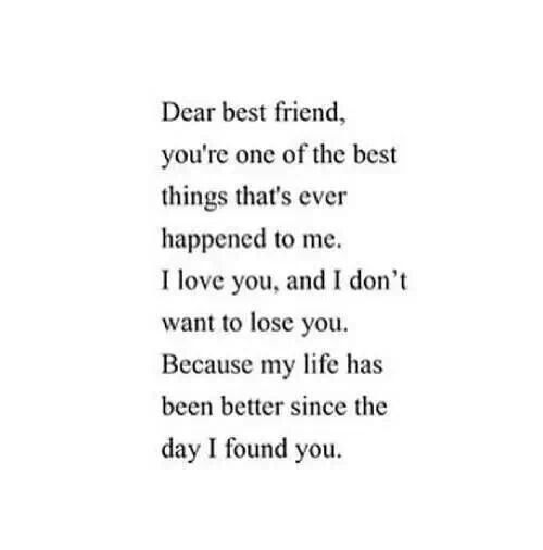 Sad Quotes About Being In Love With Your Best Friend : Dear Best Friend Quote: Dear Best Friends, Friendship Quotes Sisters ...