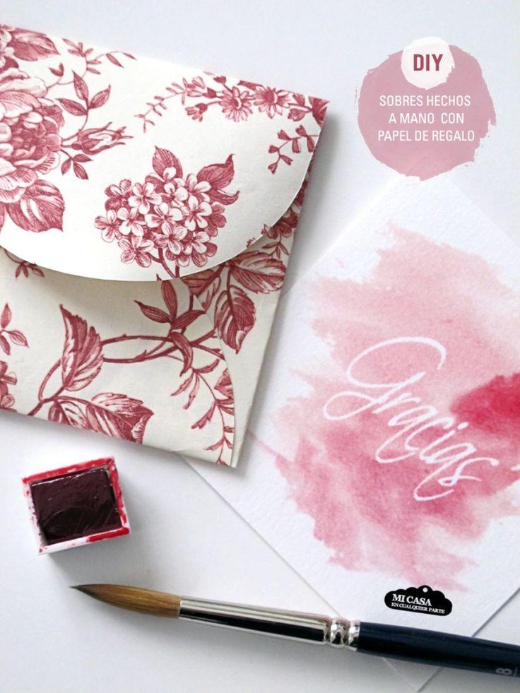 Sobres hechos a mano con papel de regalo   Blog www.micasaencualquierparte.com