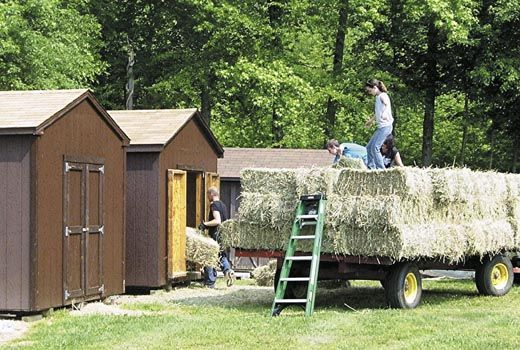 Small Hay Storage Shelter : Best images about hay storage ideas on pinterest