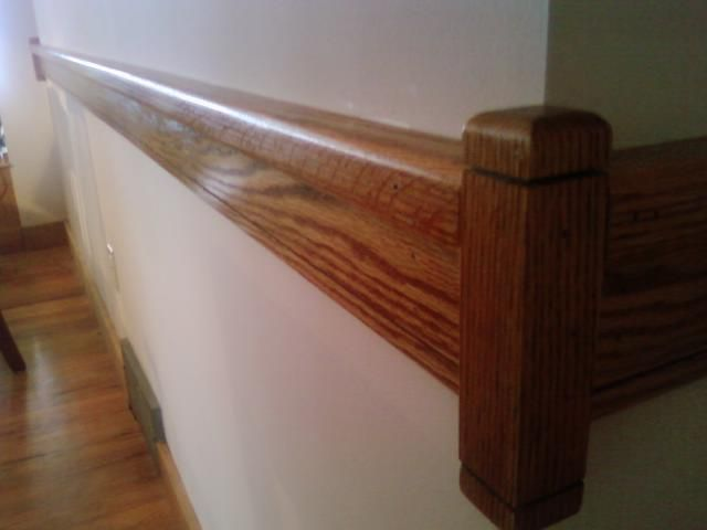 modern oak chair rail | Reclaimed and locally harvested ...