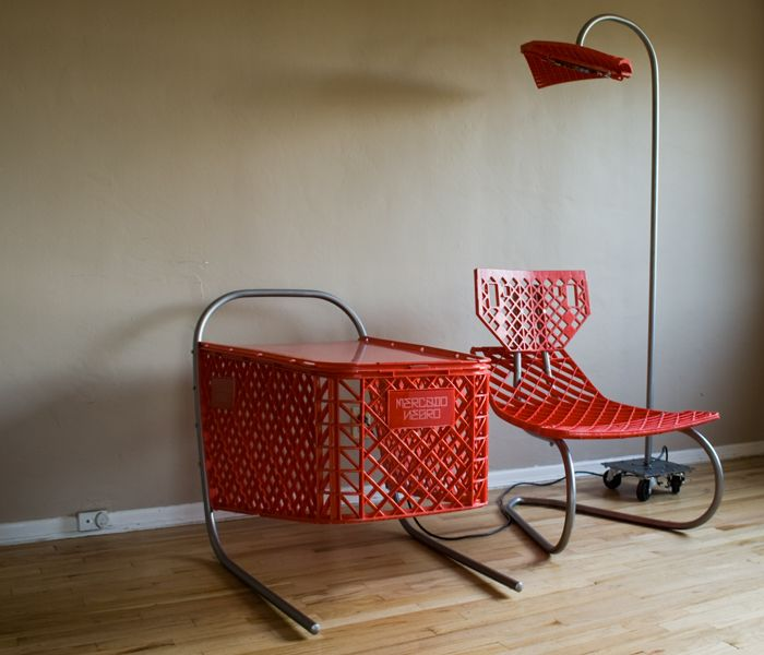 Los Angeles Based Artist Ramon Coronado Transforms Abandoned Shopping Carts  Into A Three Piece Furniture Set U2014 Chair , Side Table And Floor Lamp U2014 For  The ...