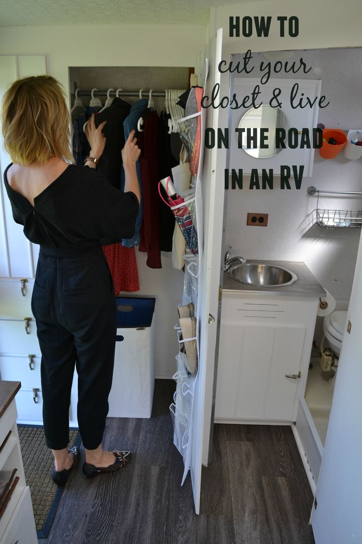 5 Tips to Cut your Closet & Live in a RV. I did this. I dnt have many clothes but as soon as I get something new. I get rid of something I dnt really wear.