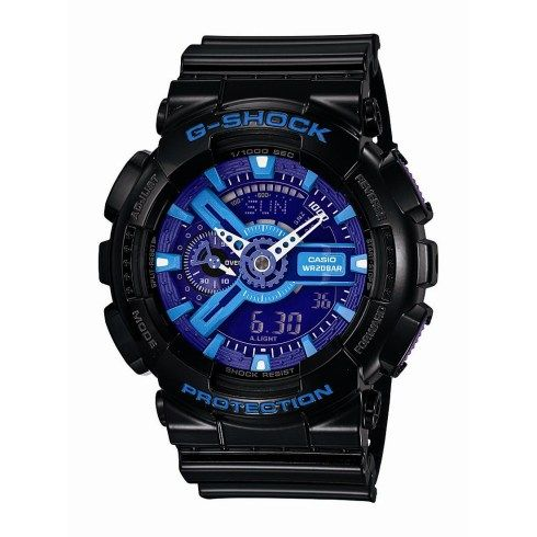 Men's Black and Hyper Blue Analog/Digital Watch