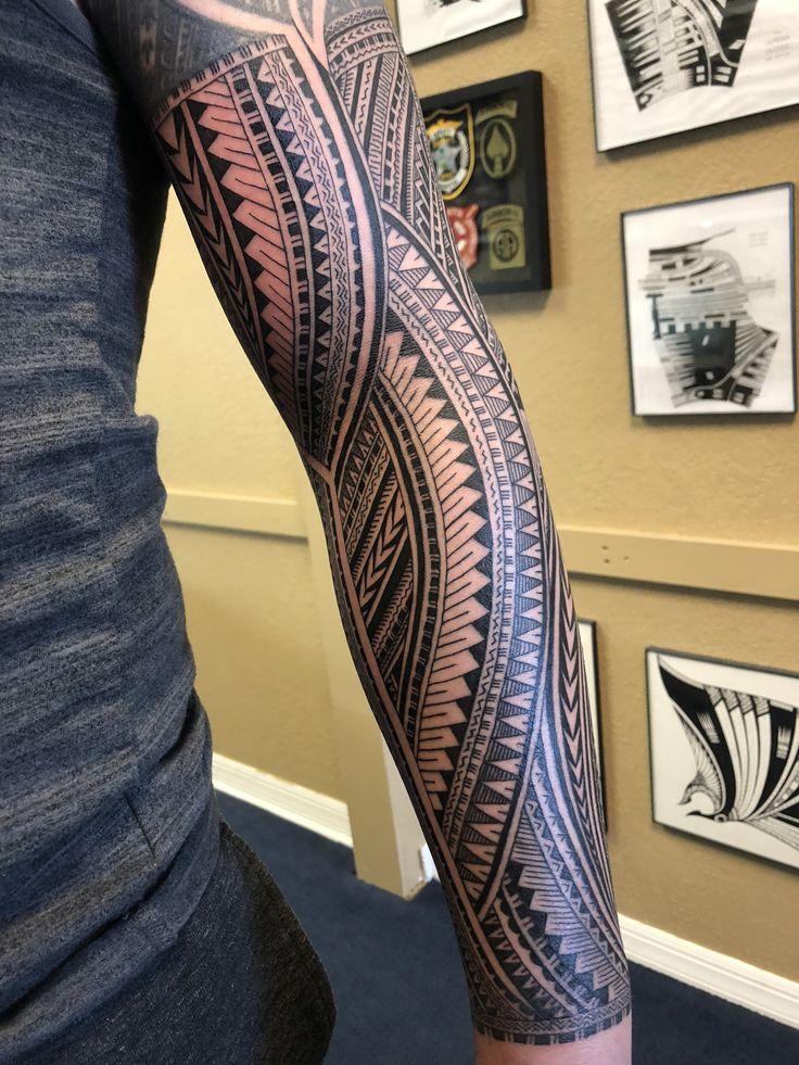Beautiful Samoan Inspired Arm Sleeve By Michael Fatutoa