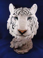 Тигр белый Бенгальский тигр голова настольная фигурка животного