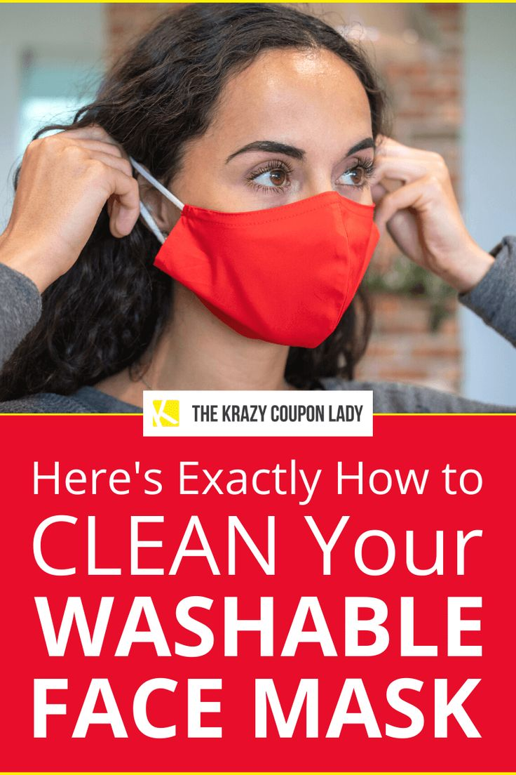 Dont to clean your washable face masks heres how