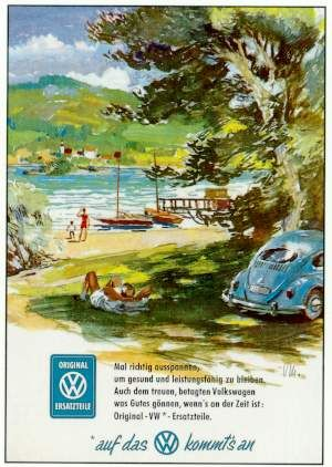 VW advertising for genuine spare parts….