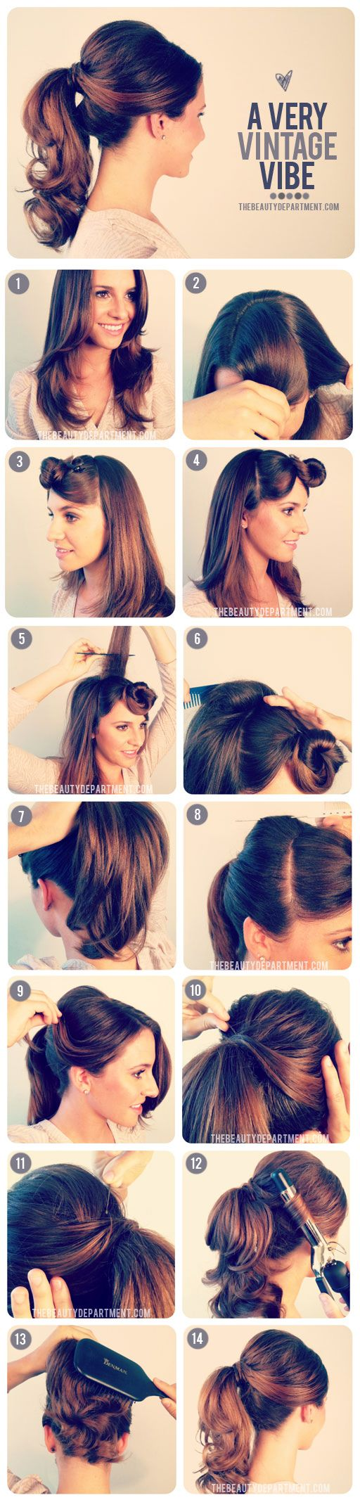Old Fasion Ponytail...Gonna do this for our Mad Men XMas party, I'll let ya know how it turns out! ♥Lea