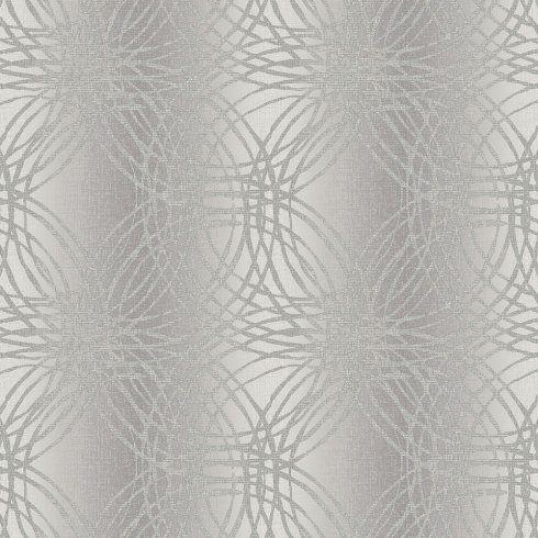 Grandeco Leon Geometric Circles Glitter Vinyl Wallpaper BOA-015-03-4