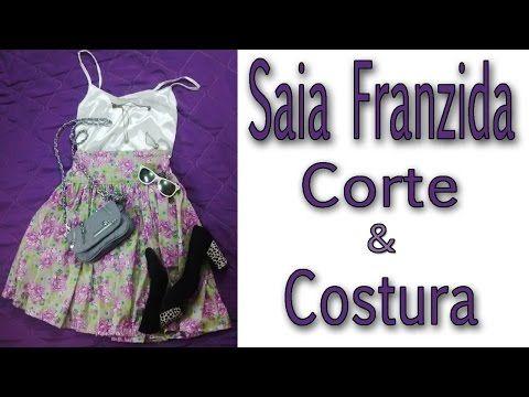 Saia Franzida Sem Molde - Corte e Costura - YouTube