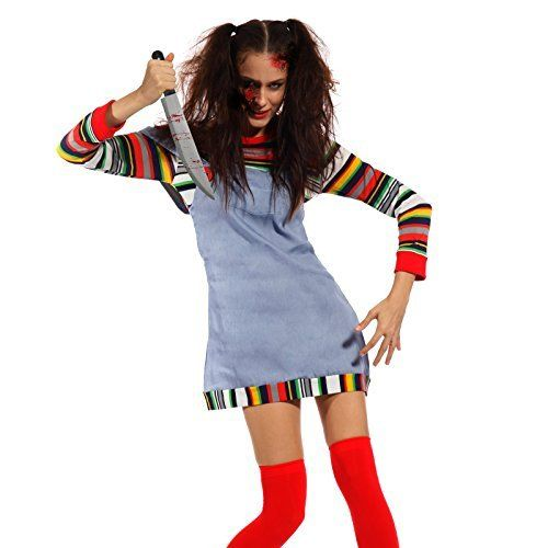 Womens Sexy Seed of Chucky Doll Costume Halloween Horror Fancy Dress up Outfit Fashoutlet, http://www.amazon.com/dp/B01568R7VU/ref=cm_sw_r_pi_dp_x_aPNbyb10M8Y2A
