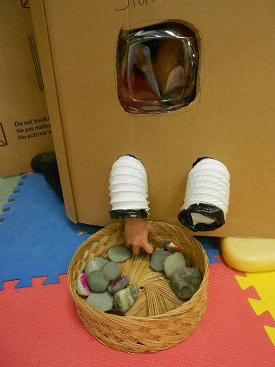 'Moon Rock Collection Station' from StrongStart. Approved by Andrea Beaty, Author of ROSIE REVERE ENGINEER. #STEM.