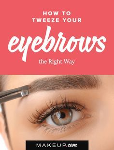 There are lots of ways to get perfectly shaped eyebrows! If eye brow threading and waxing aren't for you, tweezers might be the best option. Here's everything you should know about tweezing before you start to pluck.