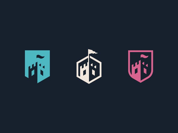Some castle logo concepts that didn't make it. I sure had a ton of fun making them though. They might find a home in the near future, who knows?  Let me know your thoughts!