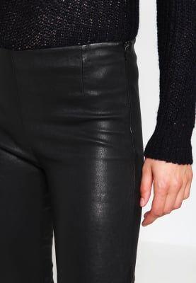 Pantalons Tigha NORI - Leren broek - black Zwart: € 349,95 Bij Zalando (op 1-10-16). Gratis bezorging & retournering, snelle levering en veilig betalen!