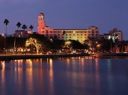 St Petersburg Florida. Have been there 3 times, loved it. Stayed in the hotel in photo, the Don Cesar. Amazing!