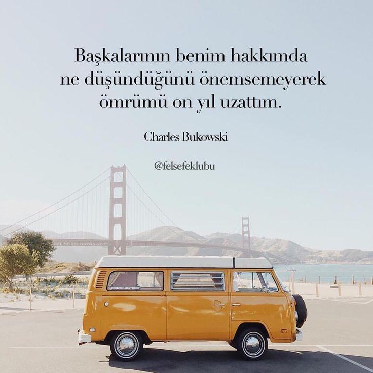 Başkalarının benim hakkımda ne düşündüğünü önemsemeyerek ömrümü on yıl uzattım.   - Charles Bukowski  #sözler #anlamlısözler #güzelsözler #manalısözler #özlüsözler #alıntı #alıntılar #alıntıdır #alıntısözler #şiir