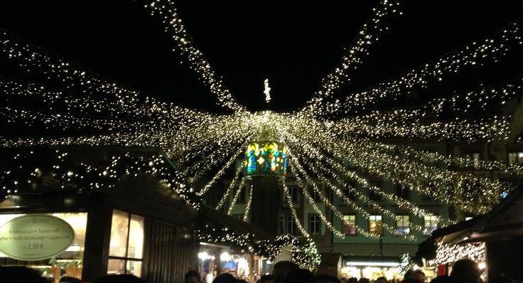 Sternenhimmel, Weihnachtsmarkt Mainz
