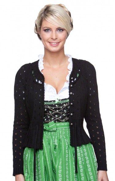 Traditional bavarian cardigan Lexi black