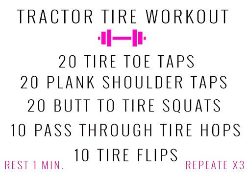 54 x 21 flipping tire exercise routine