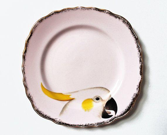 Beautiful Birds plate set by yvonneellen on Etsy