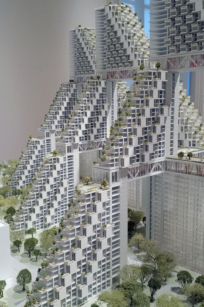 """Photo from the exhibition """"Global Citizen: The Architecture of Moshe Safdie"""" at National Academy Museum in New York. Golden Dream Bay, Qinhuangdao, China, 2015"""
