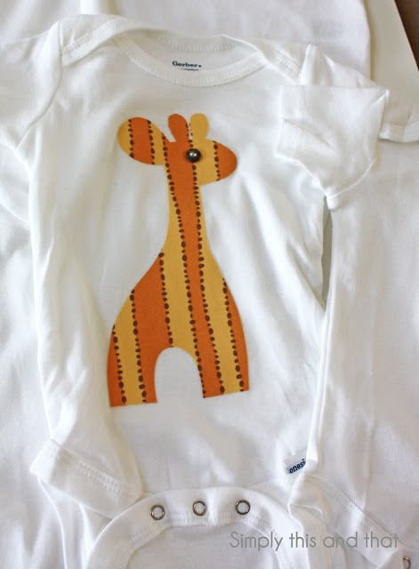 This no-sew fabric appliqué onesie tutorial from Simply This & That is a quick way to add adorable designs to a kid's onesie. Customizable to any shape or template, these onesies can be DIY simple gifts. Click in to learn more!