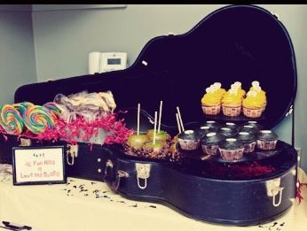 Great idea for buffet display at jam session party!