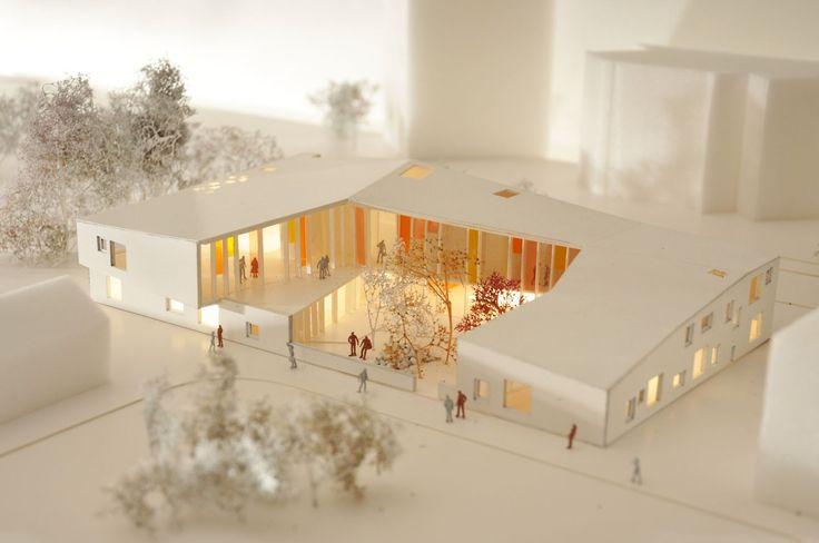 Villa Vita Cancer Centre Arkitektfirmaet C. F. Møller,  maquette, architectural model, maqueta, modulo