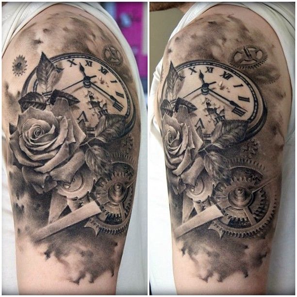 102 best timepiece tattoos images on pinterest pocket watches tattoo clock and tattoo designs. Black Bedroom Furniture Sets. Home Design Ideas