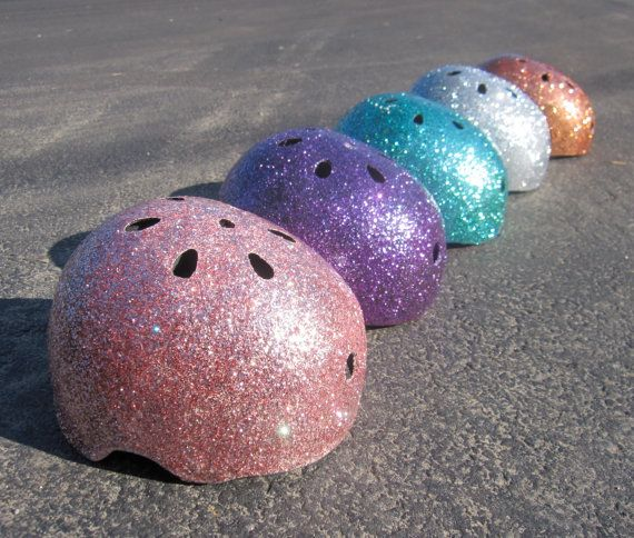 I HAVE to do this to my helmet! (note: should start wearing a helmet so i can glitter-fy it...)