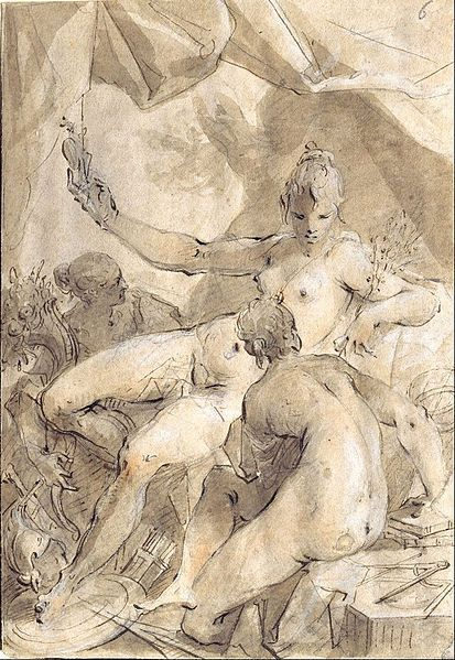Hans von Aachen - Allegory of Peace, Fertility and Science - Google Art Project (museum kunstpalast, Düsseldorf)