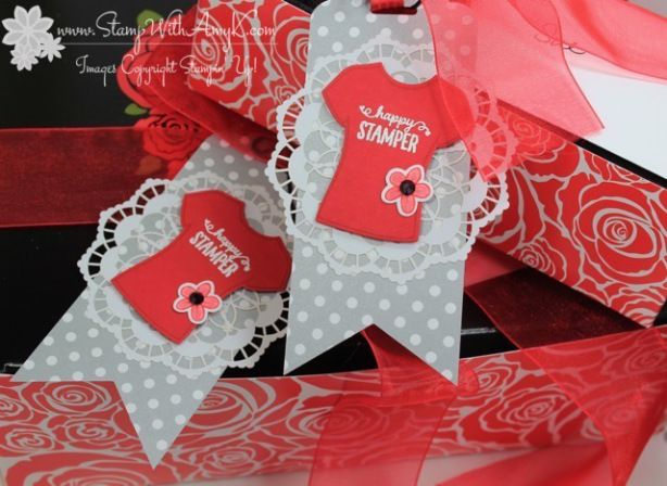 Stampin' Up! Custom Tee Gift Tags – Stamp With Amy K