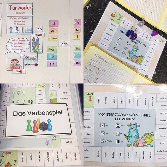 Eine super schöne Idee, um Personalformen der Verben zu üben, habe ich beim @ideenreiseblog gefunden. Heute haben es die Kinder gespielt. Die Ergebnisse sollten die Kinder in ihr Deutschheft notieren! Eine super tolle spielerische Art und Weise, um die Personalformen in einer kleinen Gruppe zu trainieren. #verben #deutschindergrundschule #deutschunterricht #grundschule #grundschullehrerin #gundschulideen #ideenbörse #froileinskunterbunt