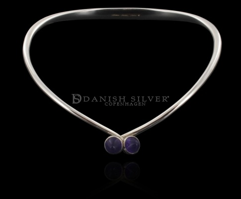 Sterling Silver Neck Ring by Bent Knudsen