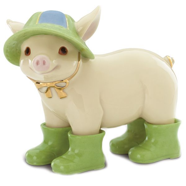 Wally in Wellies Pig Figurine