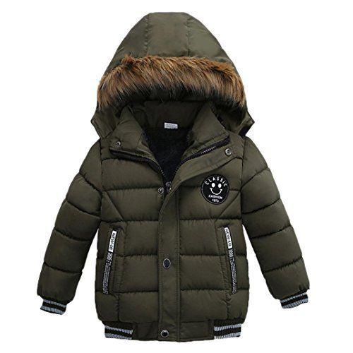 2e914b68d Amazon.com  Sunbona Toddler Baby Boys Autumn Winter Down Jacket Coat ...