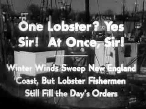 Lobster Fishing in New England 1937 Chevrolet Newsreel: http://youtu.be/naYMSU5GEBU #food #lobster #fishing
