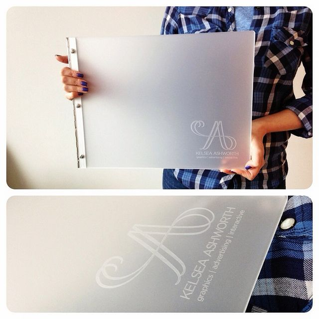 Custom Graphic Design Portfolio Book In Frosted Clear Acrylic With An  Engraving Treatment | Flickr
