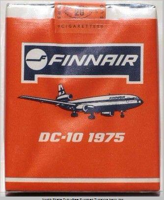 Mainos: Finnair nortti röökit 1975