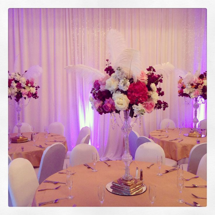 Quinceanera flower centerpieces tables for Quinceanera decorations