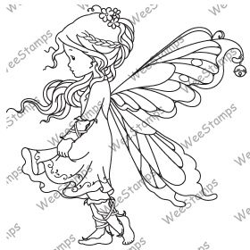 """Silver Fairy"" from Wee Stamps.  Looks like this is only available as a digi stamp."