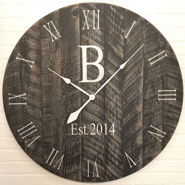 Large Wall Clock Black with Grey Undertones
