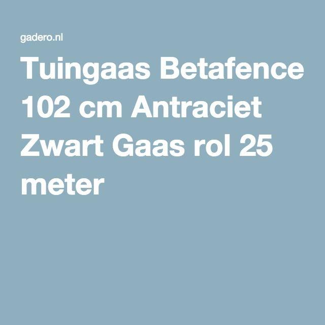 Tuingaas Betafence 102 cm Antraciet Zwart Gaas rol 25 meter