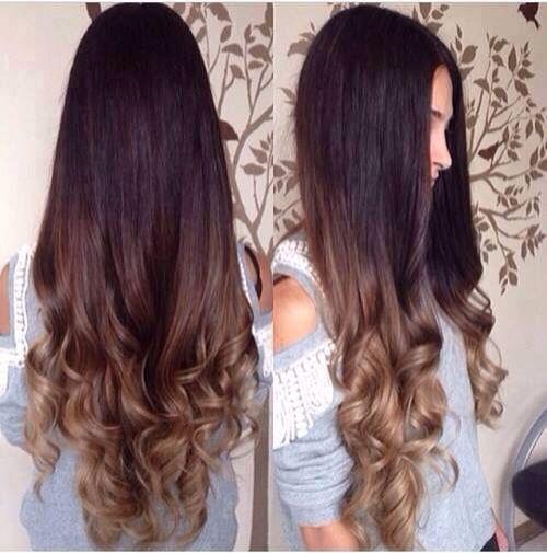 Hair long,cabello largo, puntas pintadas