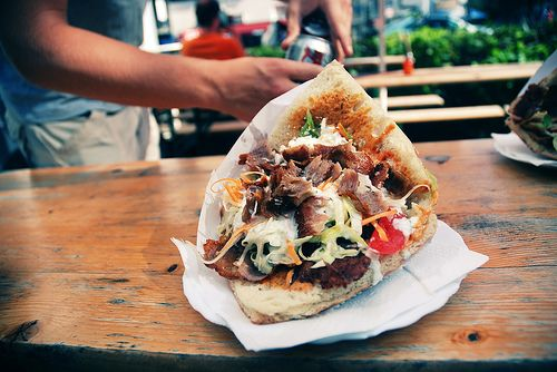 Döner Kebap...oh how I have missed these, but I just heard that there is a place in town that sells döner kebap's like you'd get in Berlin, and I am so excited.  Yeah...I know how dorky it sounds to be so excited about a kebab.
