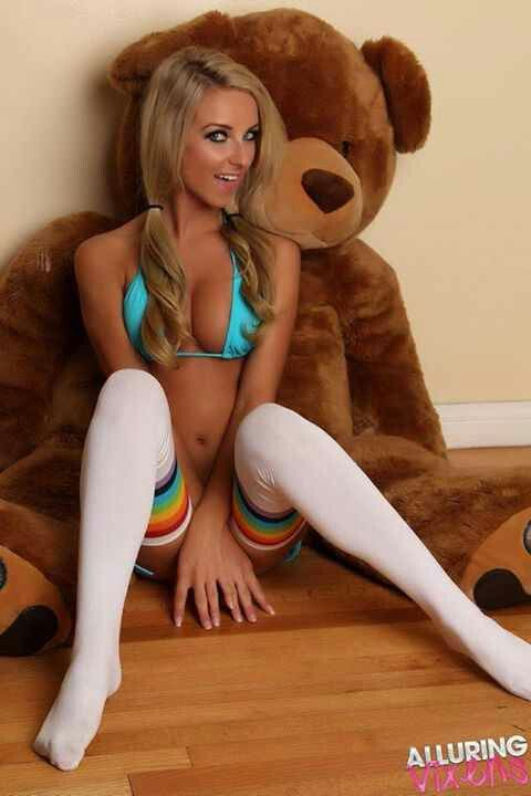 Girls fucking teddy bear