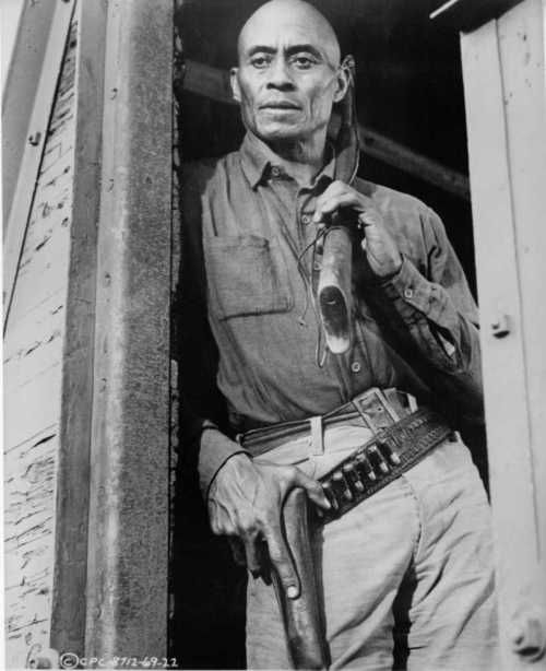 Woody Strode in a publicity still for The Professionals (1966),
