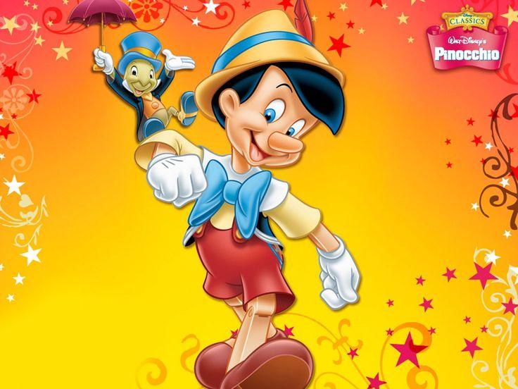 ジミニー·クリケットでピノキオを示すデスクトップ 漫画 高解像度で壁紙